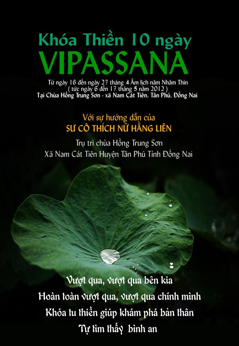 Khóa Thiền Vipassana 10 ngày